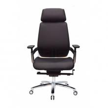 Ghế da trưởng phòng IBIE IB815 mâm 3 cần chân nhôm cao cấp màu đen