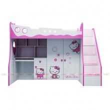 Giường tầng Ibie 3 trong 1 hình Hello Kitty