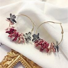Bông tai khoen tròn hoa khô - Tatiana - BH3359 (Nhiều màu)
