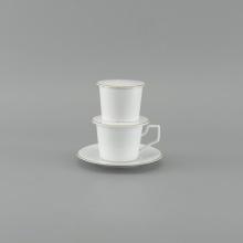 Bộ phin cà phê Minh Long (Tách 0.17L) -  Camellia bắt chỉ vàng