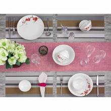 Bộ đồ ăn Minh Long 9 sản phẩm Daisy IFP - hồng đào