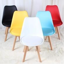 Ghế cafe, ghế ăn nhựa lót nệm chân gỗ – Mã: 205