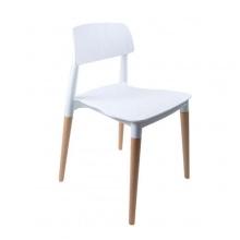 Ghế ăn, ghế cafe fastfood nhựa chân gỗ nhập khẩu giá rẻ- Mã 228