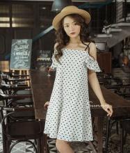 Đầm suông hở vai Kimi - AD180016