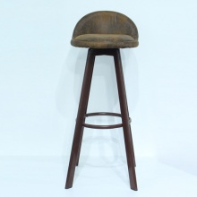 Ghế bar chân cao giả gỗ yên da – Mã: 401