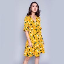 Đầm suông thời trang Eden D301 (vàng)