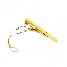 Kẹp caravat mạ vàng, đính kim cương tự nhiên – CRV0102