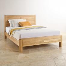 Giường đơn Emley 100% gỗ sồi 1m2 - Cozino