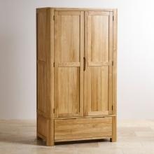 Tủ quần áo Emley 2 cánh 1 ngăn kéo gỗ sồi 1m - Cozino