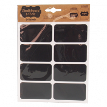 Nhãn dán màu đen 24 cái 7.5X4cm