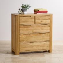 Tủ ngăn kéo ngang Emley gỗ sồi (5 ngăn) - Cozino