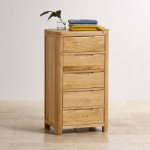 Tủ ngăn kéo đứng Emley gỗ sồi (5 ngăn) - Cozino