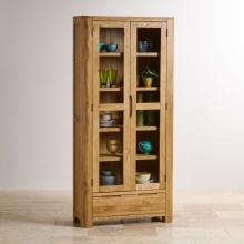 Tủ trưng bày Emley gỗ sồi 1m - Cozino