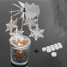 Chân đến nến tealight Eden Go Round Candle hoa tuyết lớn tặng kèm 10 nến