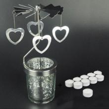 Chân đế nến tealight Eden Go Round Candle trái tim rỗng lớn tặng kèm 10 nến