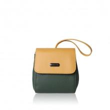 Túi thời trang Verchini màu xanh rêu + vàng 005627