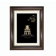 Quà tặng lưu niệm: Tranh tháp rùa mạ vàng – TrTR