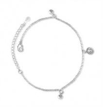 Lắc chân mạ bạc đính đá tròn - Tatiana - LB2020 (Bạc)