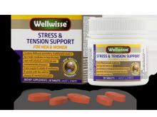 Thực phẩm bảo vệ sức khỏe giảm căng thẳng và mệt mỏi - Wellwisse Stress & Tension Support - 30 viên