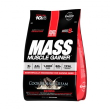 Sữa tăng cân Elite Labs Mass Muscle Gainer Cookies Cream 4.62kg - SMEL936