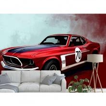 Tranh dán tường 3D xe hơi TC036