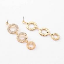 Bông tai đá zircon khoen tròn luxe - Tatiana - BH1156 (Vàng)