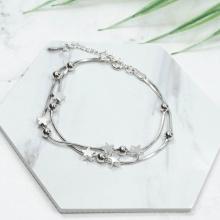 Vòng tay nữ mạ bạc bi sao lấp lánh - Tatiana - VB2262 (bạc)