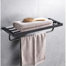Giá để đồ kết hợp treo khăn inox304 Black series HC6812