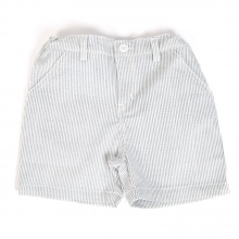 Quần short cotton kẻ sọc xám