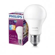 Bóng đèn Philips LED Scene Switch đổi màu ánh sáng 9.5W 3000K/6500K đuôi E27 (Trắng / Vàng)