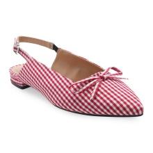 Giày búp bê mũi nhọn phối nơ Girlie S12004 - Sọc đỏ