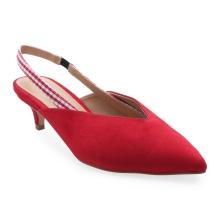 Giày cao gót bít mũi hở quai hậu Girlie S33103 - Đỏ