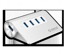 Bộ chia USB 1–4 PORT ORICO M3H4-V1 bạc