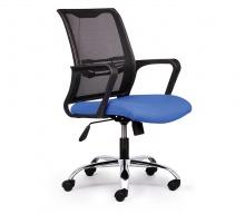 Ghế lưới văn phòng CZN1016 chân thép mạ màu xanh - COZINO