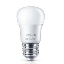 Bóng đèn Philips LED Scene Switch 2 cấp độ chiếu sáng 6.5W 3000K đuôi E27 P45 - Ánh sáng vàng