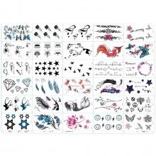 30 tờ hình xăm dán tattoo tha thu từ 90-100 hình xăm