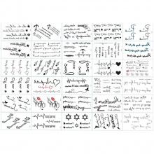 30 tờ hình xăm dán Tattoo tha thu khoảng 120 hình xăm