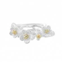 Nhẫn mạ bạc floral - Tatiana - NB2439 (bạc)