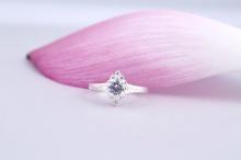 Opal- Nhẫn bạc đính đá ross _T09
