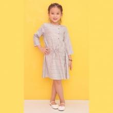 Đầm suông bé gái Ugether rút dây eo UKID201