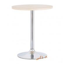 Bàn ăn bàn cafe tròn mặt gỗ, chân trụ – Mã: T102W