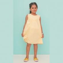 Đầm bé gái Ugether viền ngực vòng cung UKID212
