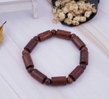 Vòng gỗ sưa đỏ hạt đốt 10mm Hadosa - VGS02S10