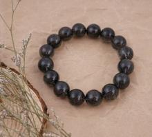 Vòng đá thạch anh tóc đen 13mm chuẩn 5A cao cấp Hadosa - NSBBR005S13