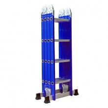 Thang nhôm gấp đa năng 4 đoạn Advindeq ADM104 blue, màu xanh