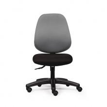 Ghế văn phòng CZN1024 chân nhựa màu xám không tay - COZINO
