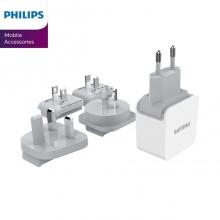 Bộ sạc du lịch Philips DLP2220 tích hợp 2 cổng USB