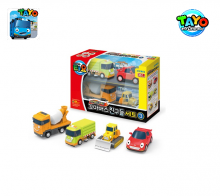 Đồ chơi Tayo Mini Car Set 4 Styles 3 (Billy/Speed/Rubby/Chris)