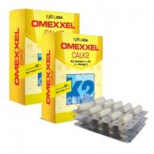 Combo 2 hộp viên uống bổ sung canxi Omexxel Calk2 (Hộp 30 viên) Xuất xứ Mỹ