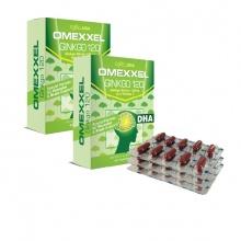 Combo 2 hộp viên uống hoạt huyết dưỡng não Omexxel Ginkgo 120 ( 60 viên) - Chính hãng Mỹ